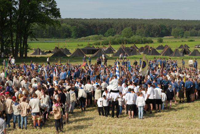 Pfadfinder aus ganz Deutschland waren in Haid