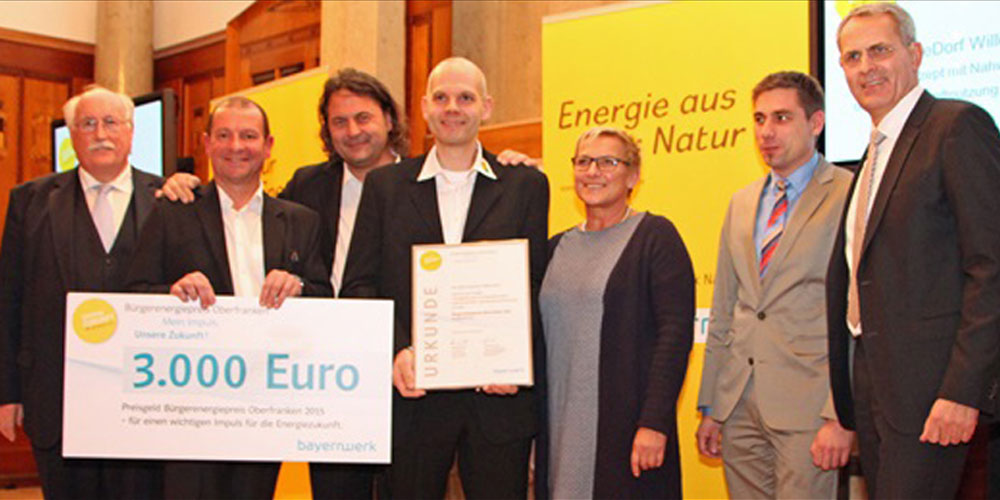 BioEnergieDorf Willersdorf gewinnt Bürgerenergiepreis