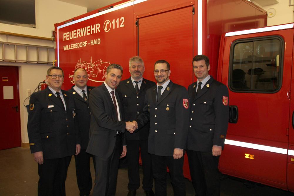 Neuwahlen und Ehrungen bei der FFW Willersdorf/Haid