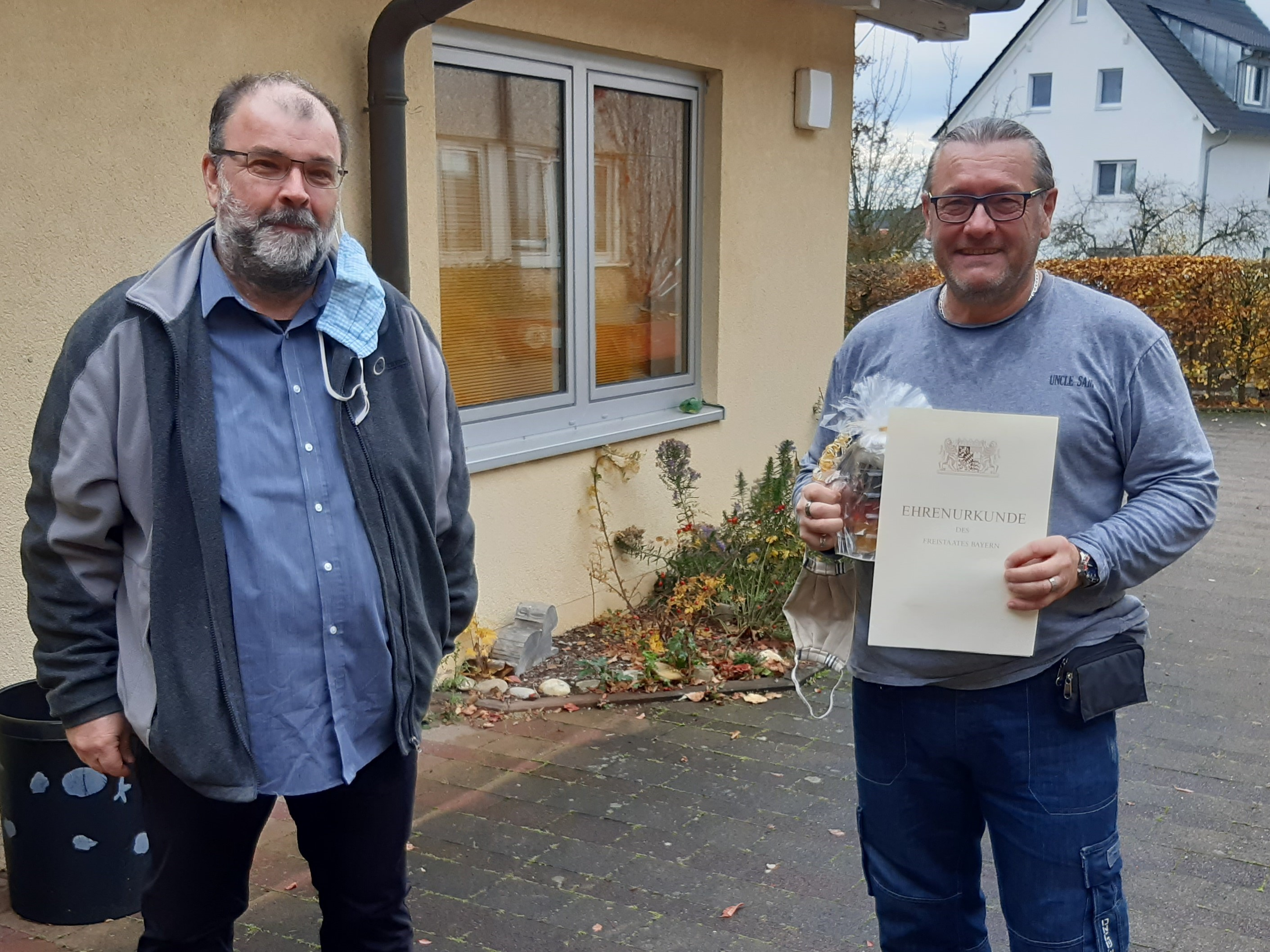 Urkunde für 25-jähriges Dienstjubiläum